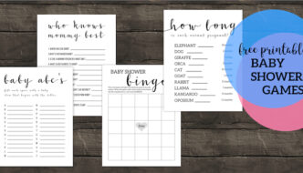 Free Printable Baby Shower Games. Best simple and easy DIY games for boy, girl, or gender neutral baby shower that aren't lame. #papertraildesign #babyshower #babyshowergames #babyshowergame #boybabyshower #girlbabyshower #neutralbabyshower #easybabyshowergames #DIY #DIYbabyshowergames
