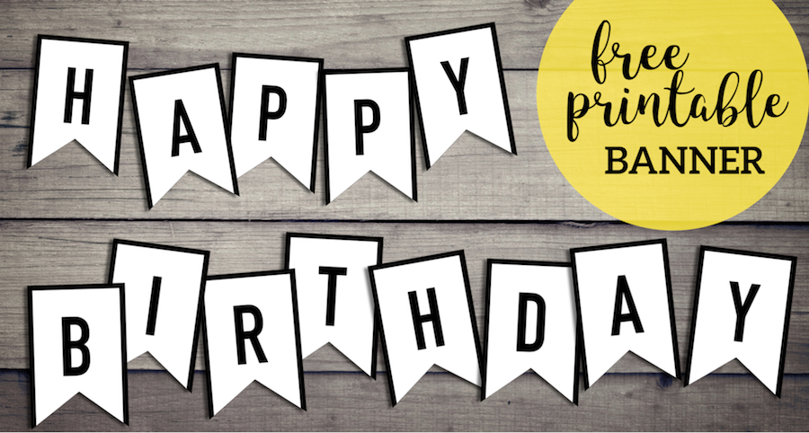Free Happy Birthday Banner Printable Sign Paper Trail Design
