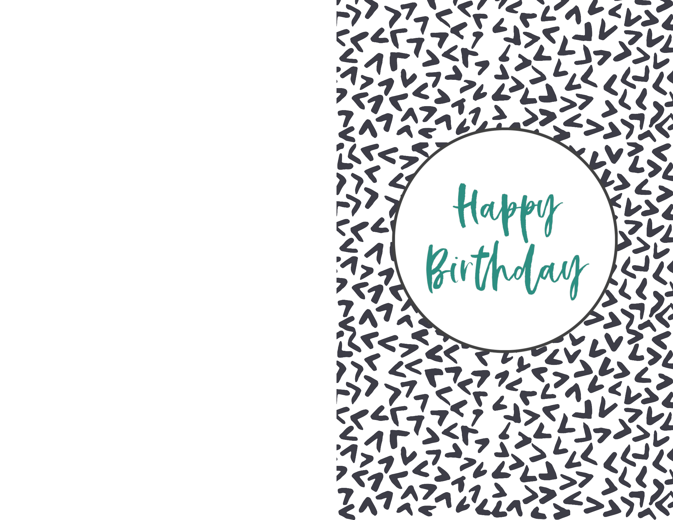This is a graphic of Sweet Foldable Printable Birthday Card