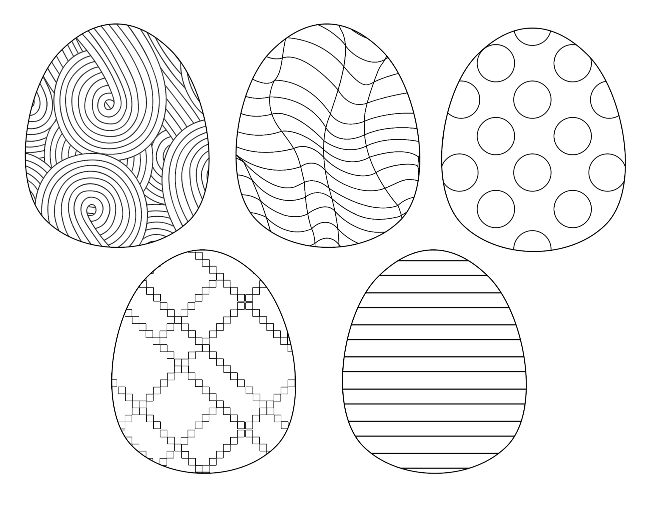 Free Easter Egg Coloring Page - Make Breaks | 1700x2200