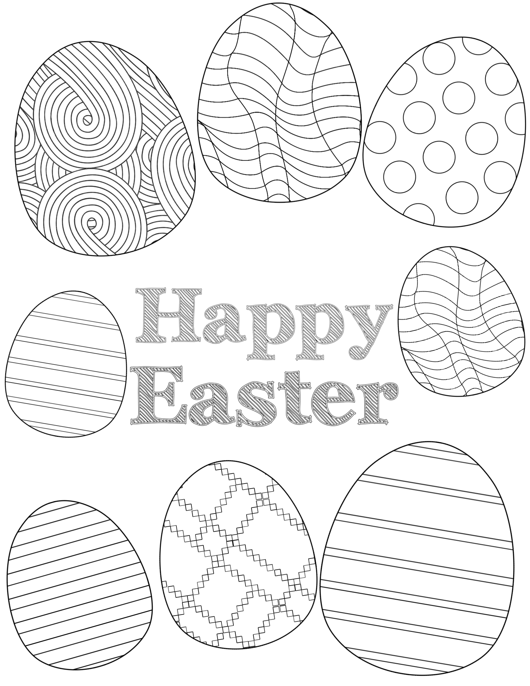 Free Printable Easter Coloring Sheets Paper Trail Design