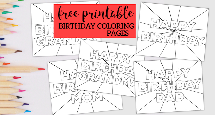 Happy Birthday Coloring Pages • FREE Printable PDF from PrimaryGames | 482x900