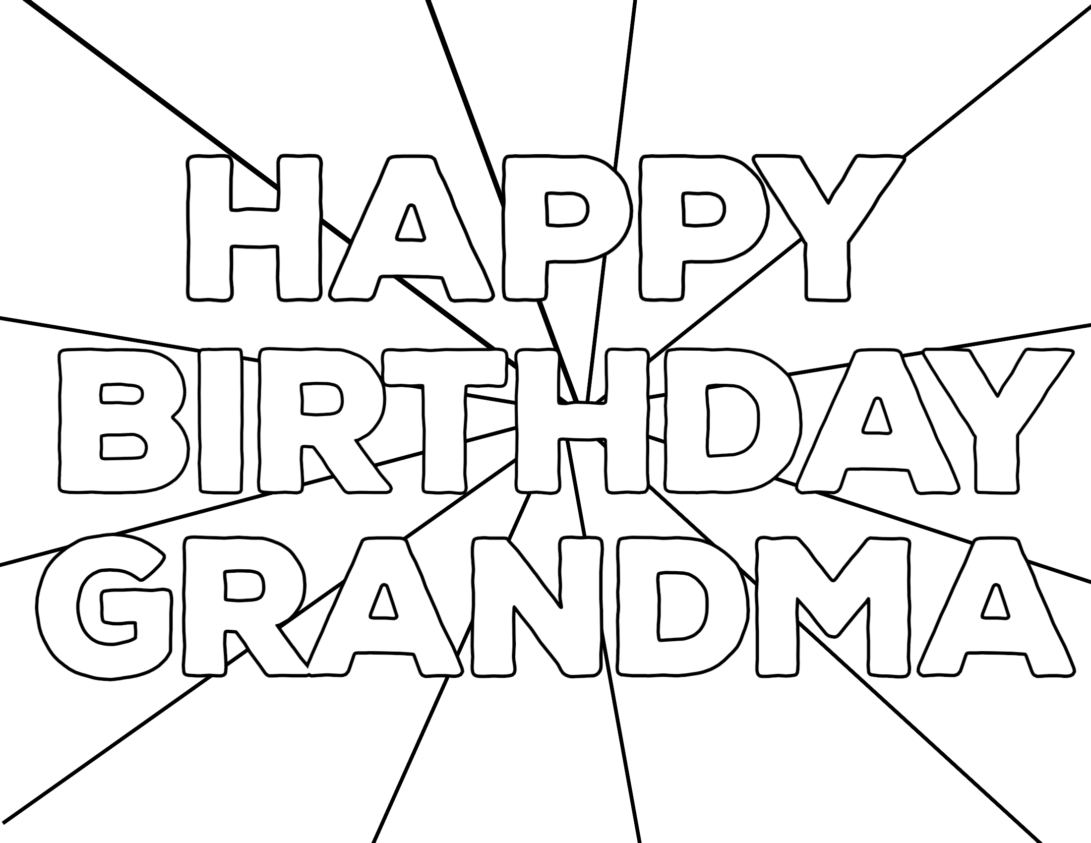 free birthday coloring pages grandmother - photo#44