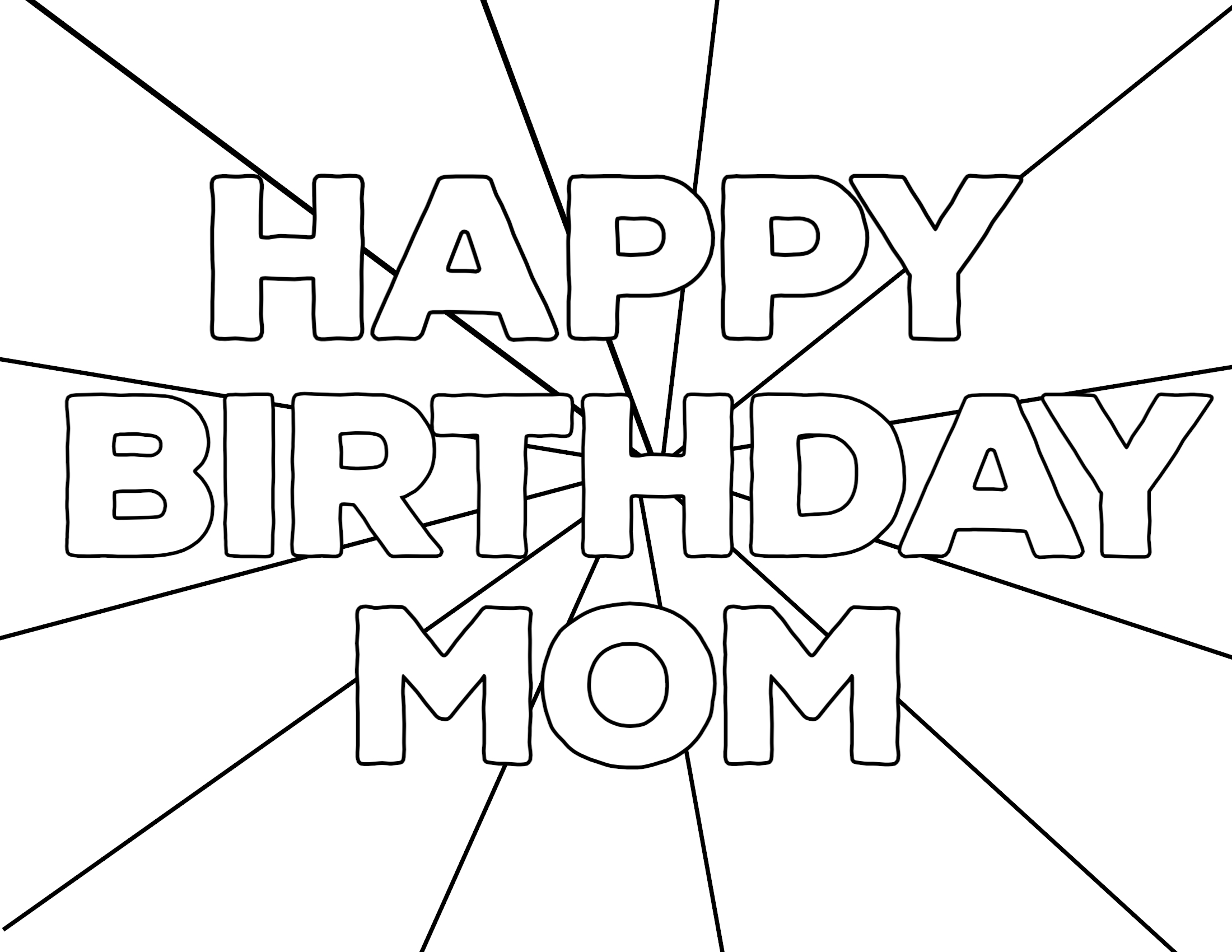 Free Printable Happy Birthday Coloring Pages Paper Trail