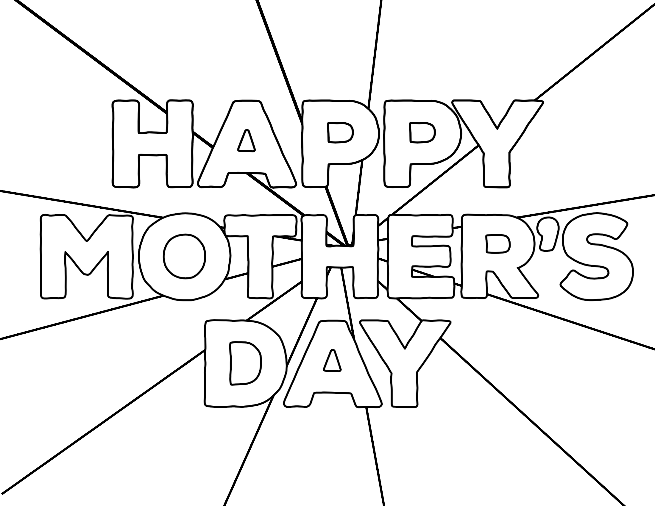 Free Printable Mothers Day Coloring Pages Paper Trail Design