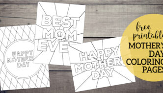 Free Printable Mother's Day Coloring Pages. Happy Mother's Day coloring sheets for kids to color for their mom or grandma. #papertraildesign #mother #mothers #mothersday #happymothersday #mothersdaycoloringpage #coloringpage #gift #gifts #mothersdaygifts