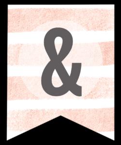 Pink Stripes Custom Banner Sign Free Printable. Cute DIY banner decor idea for a wedding, birthday, girl baby shower, or spring. #papertraildesign #birthday #birthdayparty #birthdaypartybanner #birthdaybanner #birthdaysign #custombirthdaysign #babyshower #babyshowerdecor #girlbabyshower #babyshowerdecorations #partydecor #wedding #weddingshower #bridalshower #weddingdecor #weddingdecorations #bridalshowerdecor #bridalshowerdecorations #stripes #spring #springbanner #springsign