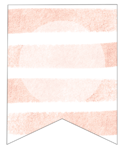 Pink Stripes Custom Banner Sign Free Printable. Cute DIY banner decor idea for a wedding, birthday, girl baby shower, or spring. #papertraildesign #banner #custombanner #bannersign #printablebanner #printablebannersign #freeprintable #abcbanner #alphabetbanner #createyourownbanner #party #partybanner