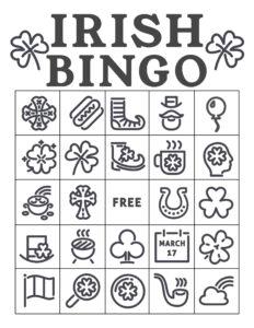 Free Printable St. Patrick's Day Bingo Cards. Irish bingo cards complete class set. Shamrock activity. #papertraildesign #shamrock #potofgold #school #schoolparty #stpatricksdayparty #irishparty #luckoftheirish #potofgold #leprechaun #lucky #stpaddy #stpaddysday #stpaddyday #paddysdayparty #partyactivity