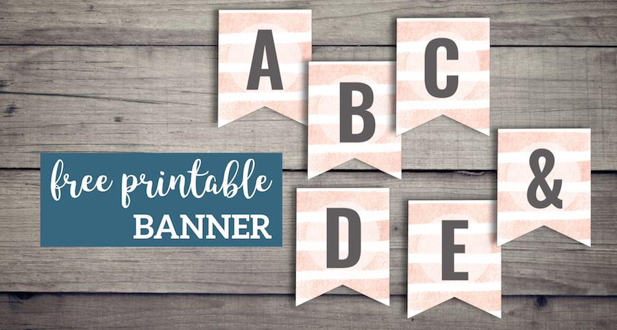 Pink Stripes Custom Banner Sign Free Printable Paper Trail Design