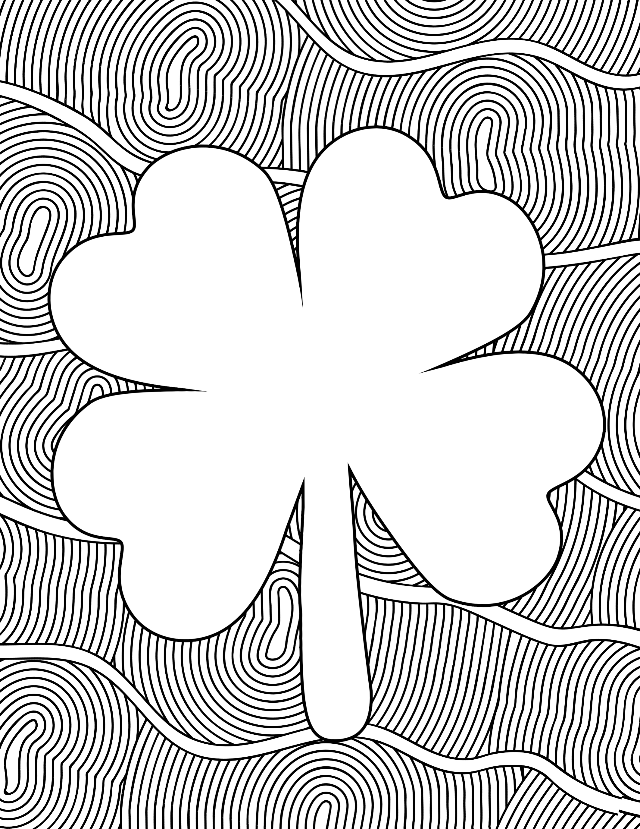 Free Printable St Patrick S Day Coloring Sheets Paper Trail Design