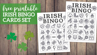Free Printable St. Patrick's Day Bingo Cards. Irish bingo cards complete class set of thirty. Shamrock, rainbow, pot of gold. #papertraildesign #lucky #bingo #irish #irishbingo #stpatricksdaybingo #stpatricks #stpatrick #stpatricksbingo #happystpatricksday #stpatricksactivity #free #freeprintable