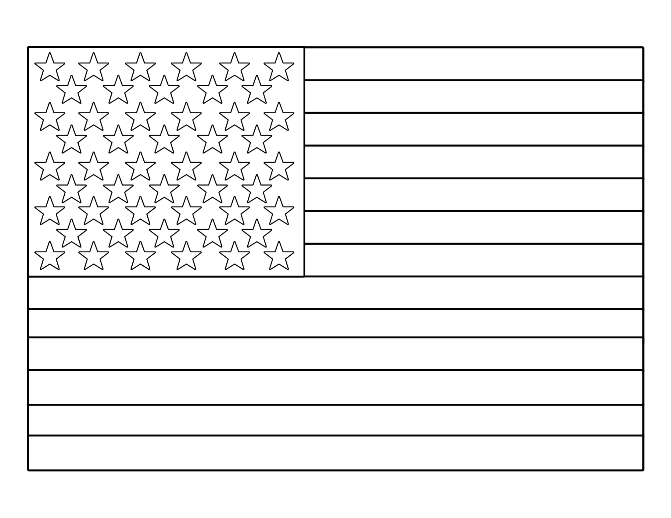 graphic regarding American Flag Printable titled Cost-free Printable 4th of July Coloring Webpages - Paper Path Structure