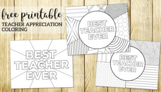 Teacher Appreciation Coloring Pages. Free printable Best Teacher Ever thank you teacher gift ideas. Teacher thank you cards. #papertraildesign #bestteacherever #teacherappreciation #teacherappreciationcard #teacherappreciationforkids #teacherthankyou