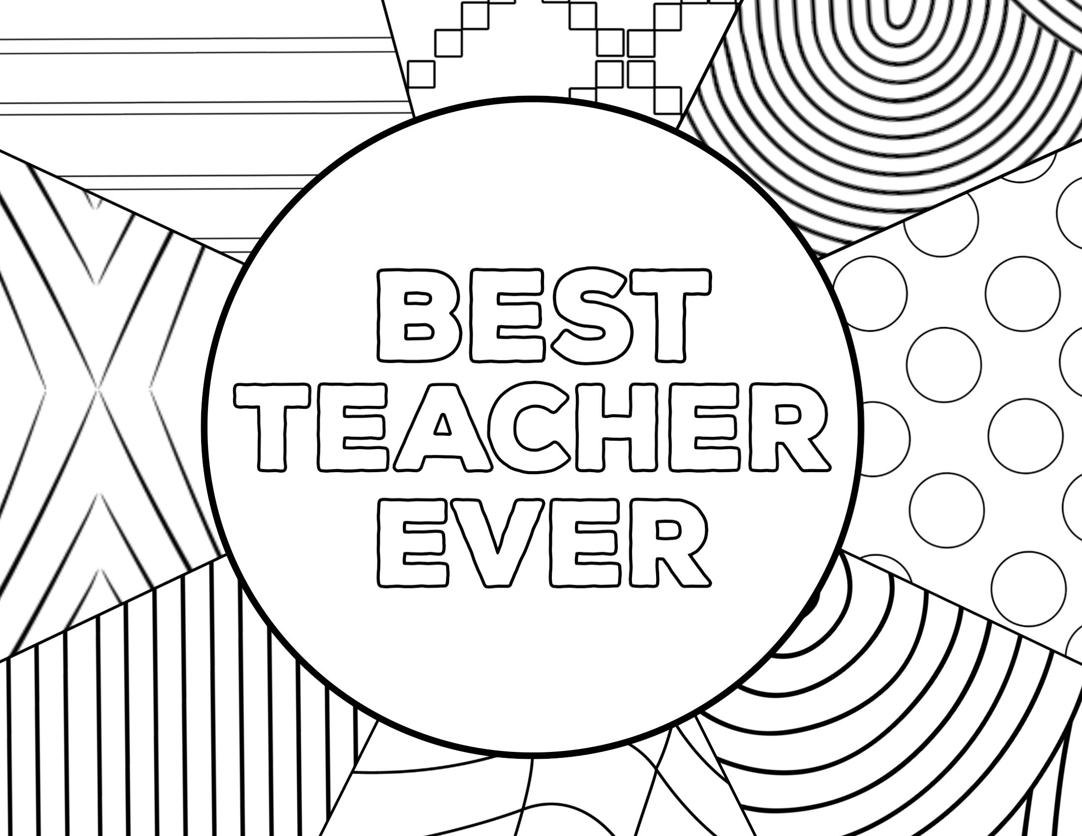 Teacher Appreciation Coloring Pages - Paper Trail Design