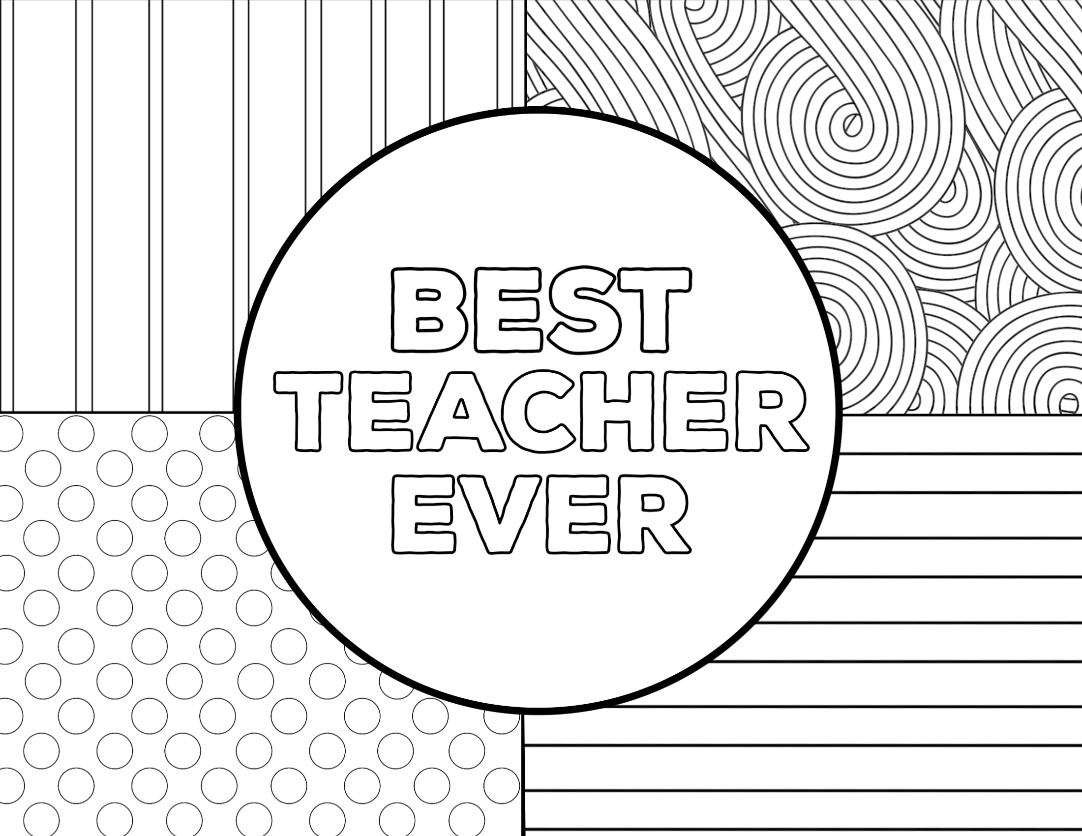image relating to Free Printable Teacher Appreciation Cards to Color identify Trainer Appreciation Coloring Web pages - Paper Path Layout