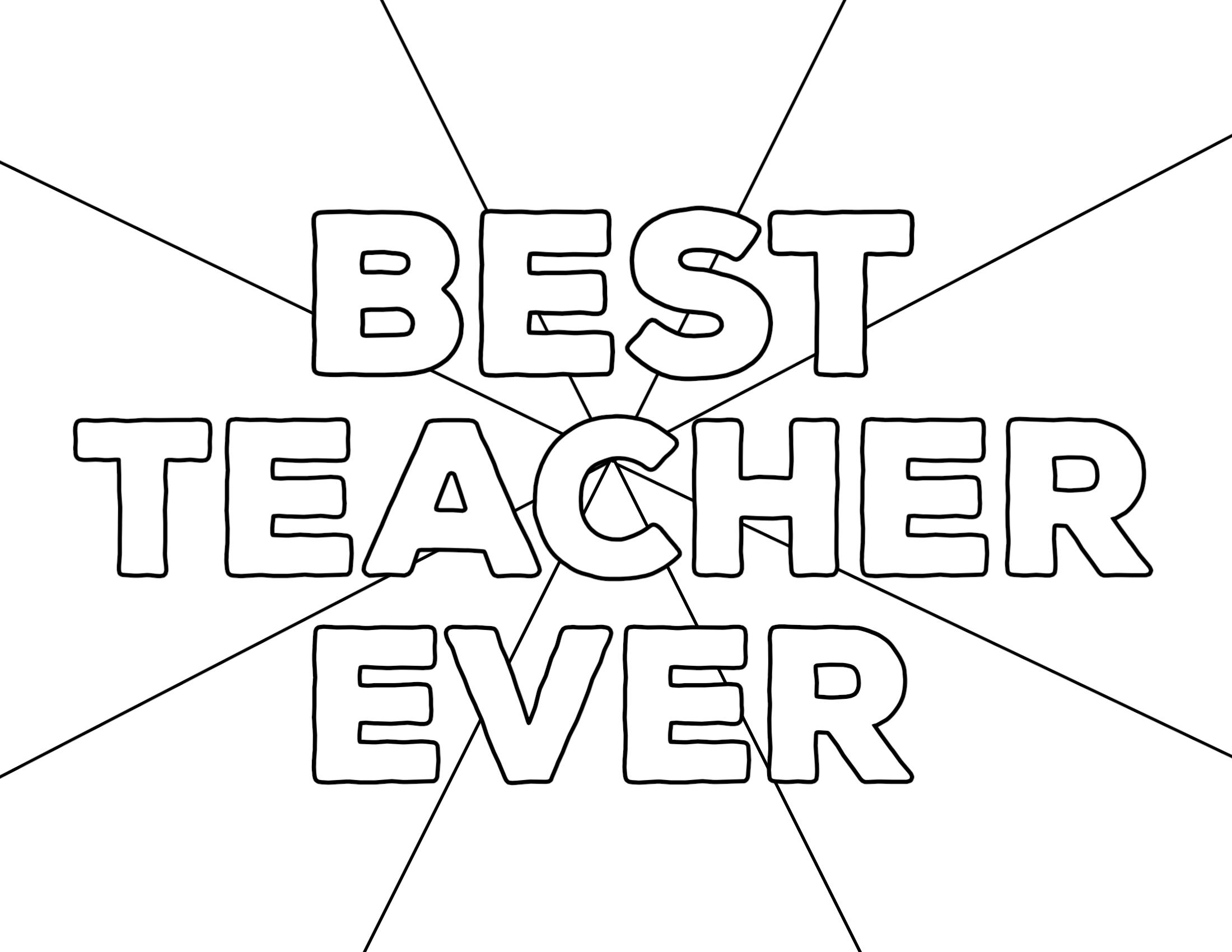 best teacher ever coloring pages | Teacher Appreciation Coloring Pages - Paper Trail Design