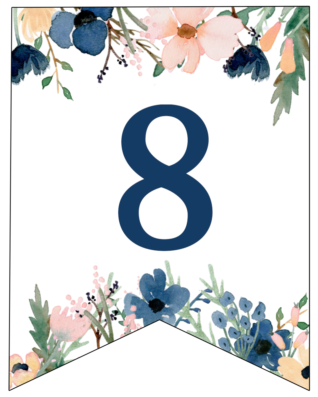 Blue & Pink Floral Banner Letters Free Printable | Paper ...