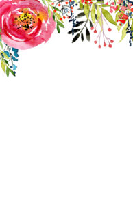 Free Printable Floral Stationery with or without lines. Cute lined watercolor flower stationery paper. Digital stationery or snail mail. #papertraildesign #stationery #unlinedstationery #mail #snailmail #oldschool