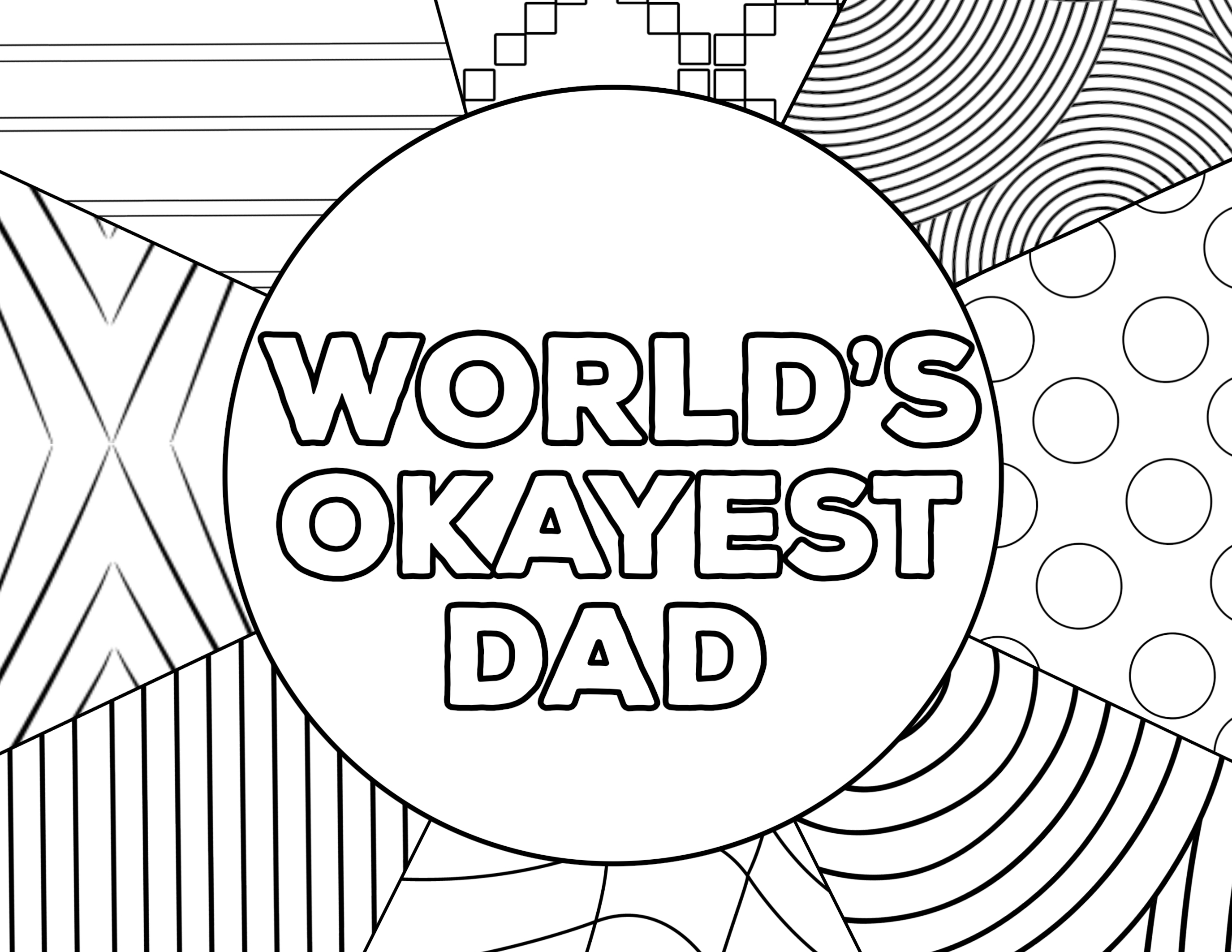 picture about Father's Day Printable Cards named Worlds Okayest Father Fathers Working day Card Printable - Paper