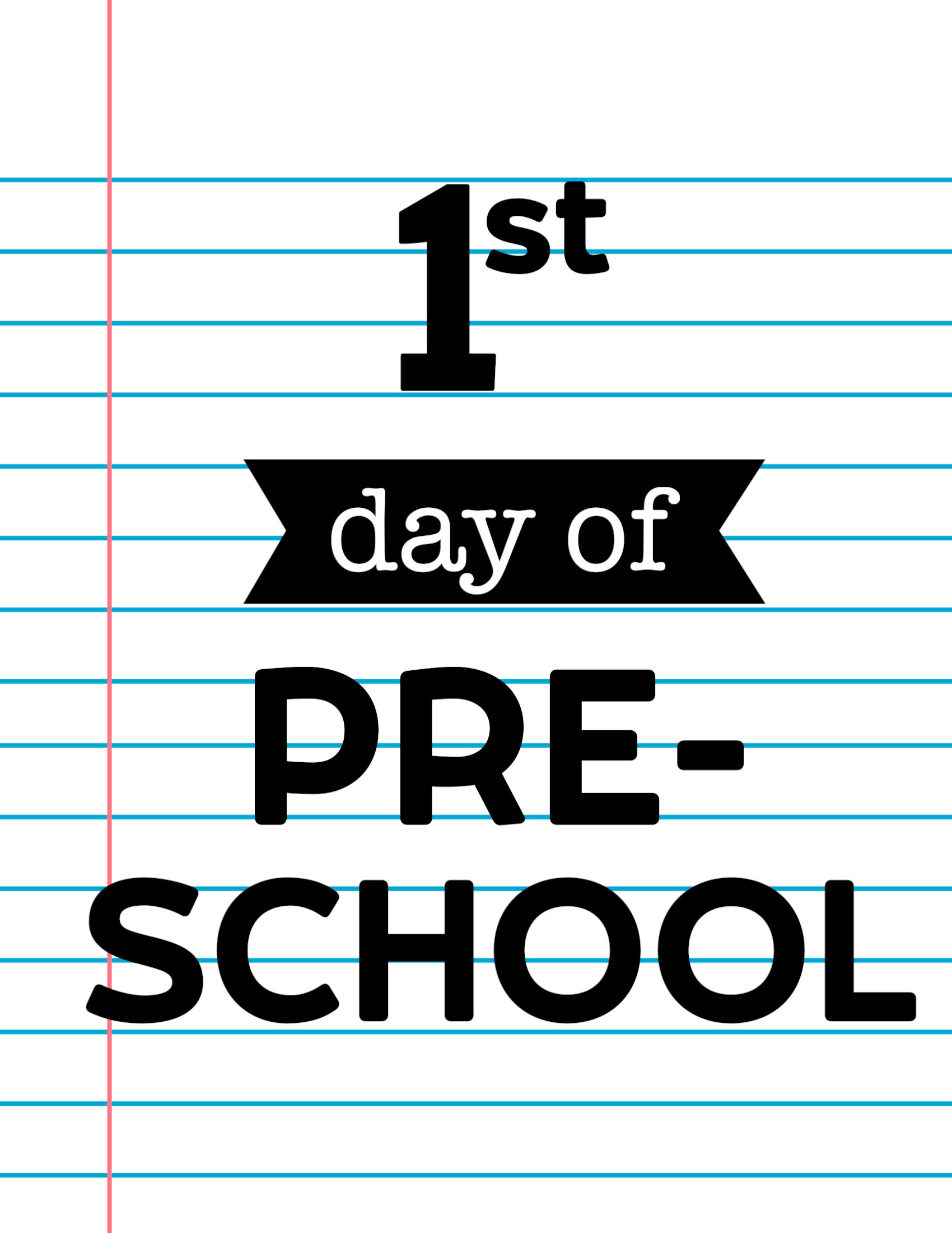 photograph about First Day of Preschool Sign Free Printable titled Very first Working day of Higher education Indications Laptop computer Paper - Paper Path Style