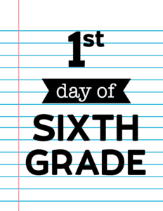sixth grade sign