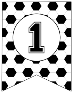 Soccer Banner Number 1