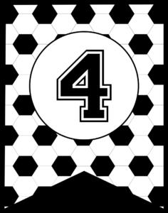 Soccer Banner Number 4