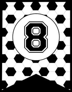 Soccer Banner Number 8