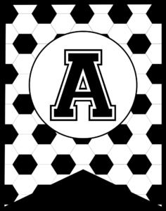 Soccer Banner Letter A