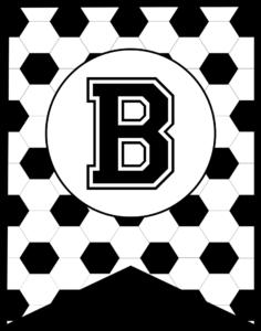 Soccer Banner Letter B
