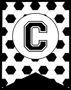 Soccer Banner Letter C