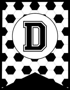 Soccer Banner Letter D