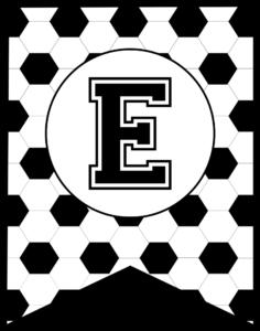 Soccer Banner Letter E