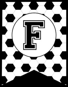 Soccer Banner Letter F