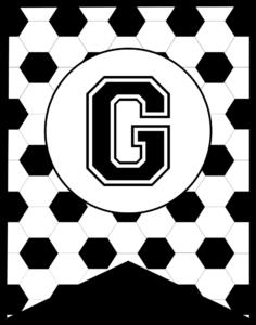 Soccer Banner Letter G