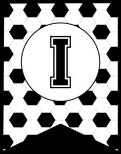 Soccer Banner Letter I