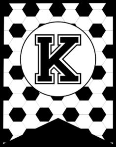 Soccer Banner Letter K