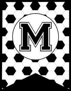 Soccer Banner Letter M