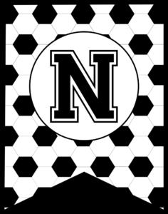 Soccer Banner Letter N
