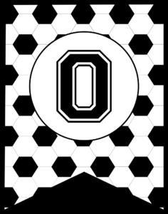 Soccer Banner Letter O