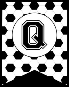 Soccer Banner Letter Q