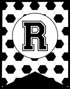 Soccer Banner Letter R