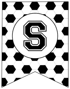 Soccer Banner Letter S