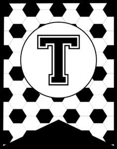 Soccer Banner Letter T