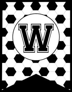 Soccer Banner Letter W
