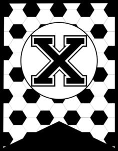 Soccer Banner Letter X