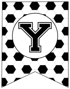 Soccer Banner Letter Y