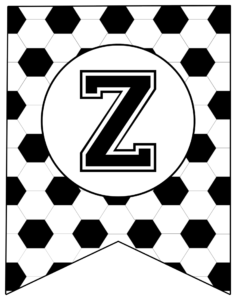Soccer Banner Letter Z