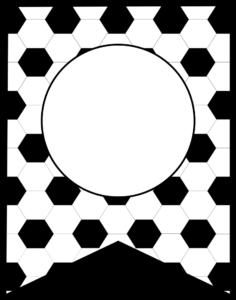 Soccer Banner Symbol blank